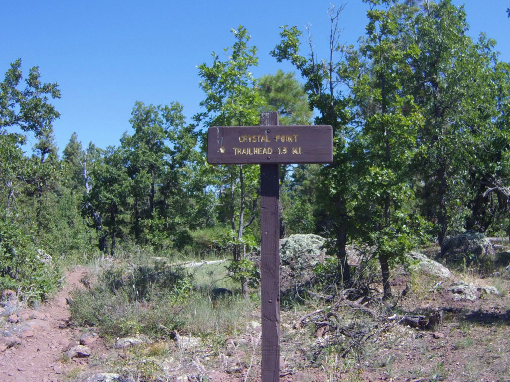 Crystal Point Trail Marker