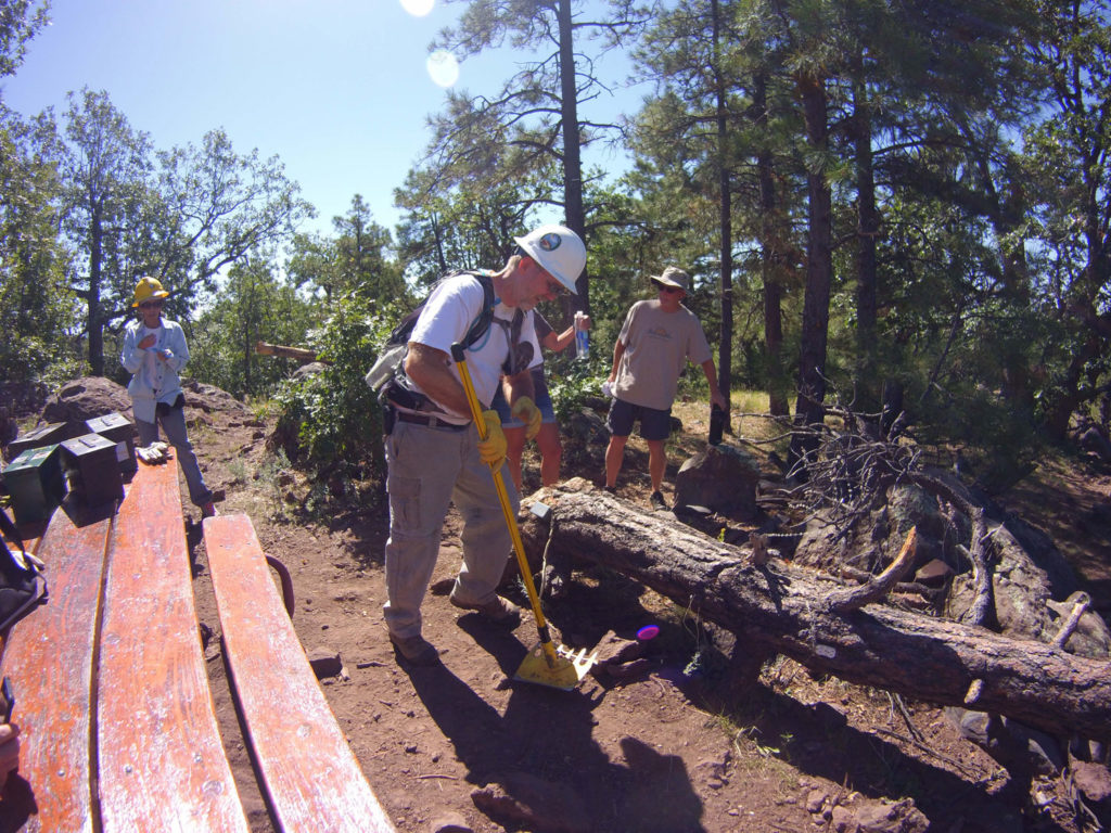 Clean up at Crystal Point Picnic Area