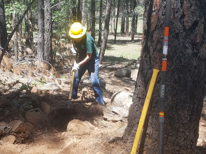 Building a drain on Frog Tank Connector Trail