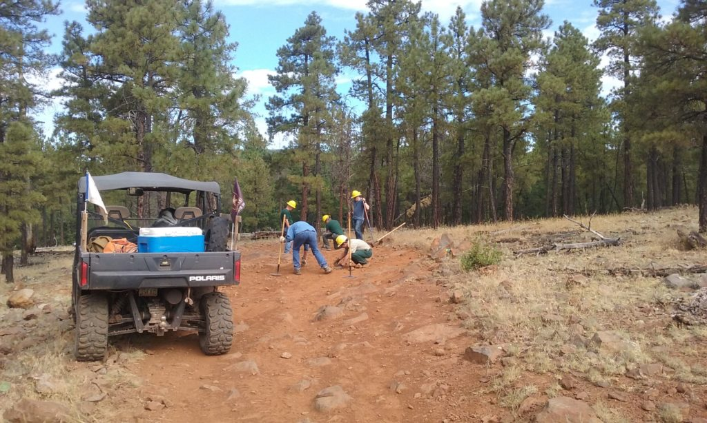 MUTS crews working on Frog Tank Loop Trail