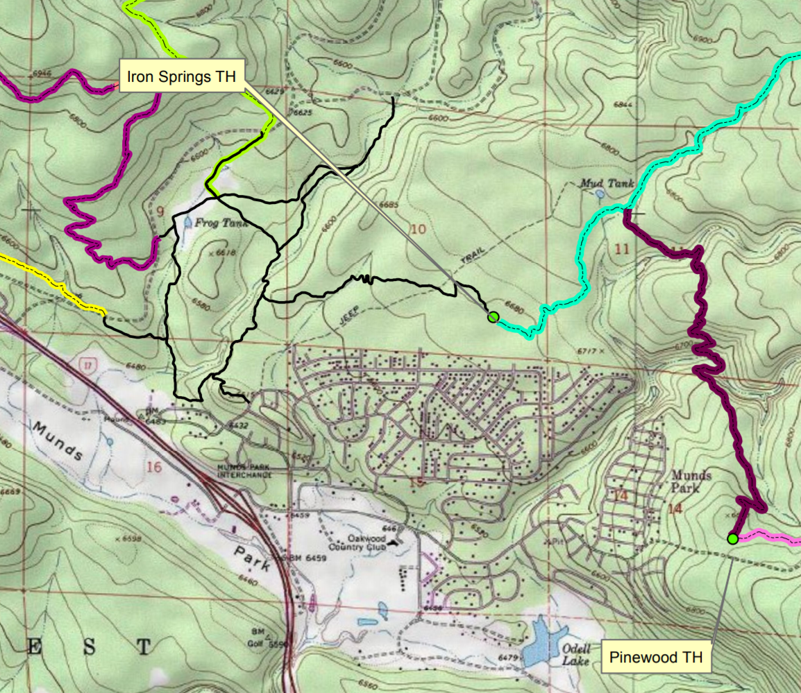 Munds Park Trail System as part of Kelly Canyon Map