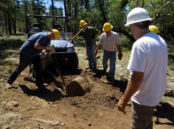 Excavating the Big Rock on Frog Tank Loop Connector - June 2017