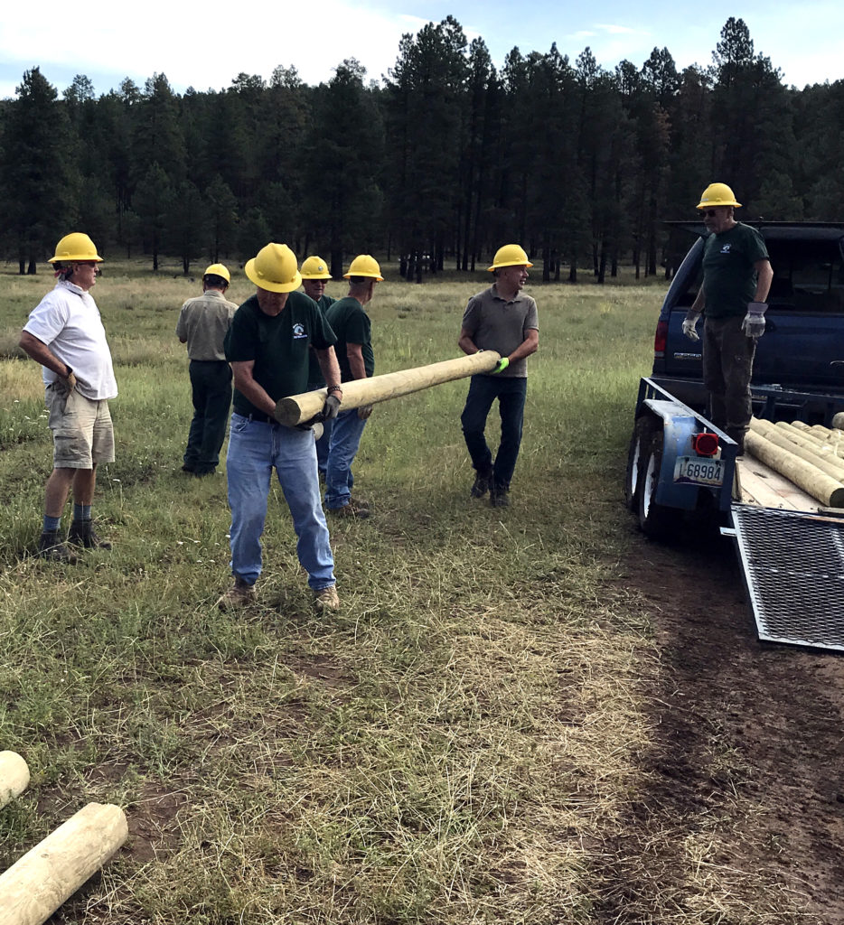 Moving logs into place before installation