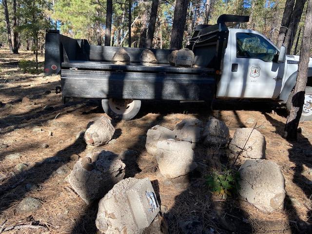 Concrete chucks removed near the Iron Springs Trailhead.